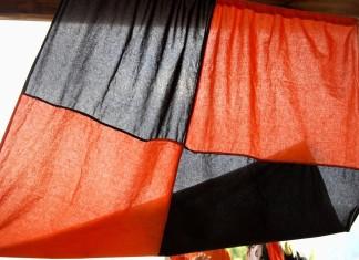 bandiera nero arancio